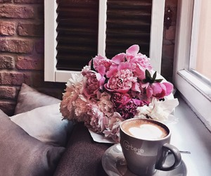 coffee, flowers, and amazing image