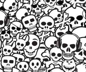 skull, wallpaper, and cute image
