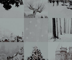 harry potter and winter at hogwarts image