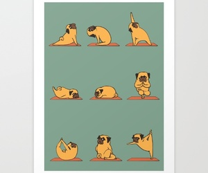 dog, dogs, and pug image