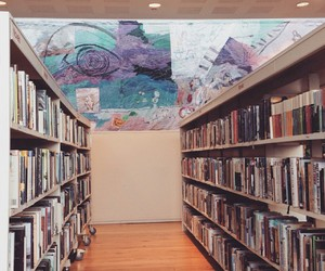 book, library, and pastel image