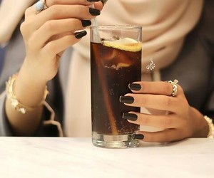 accessories, drink, and hands image
