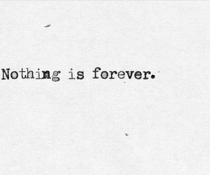 forever, nothing, and life image