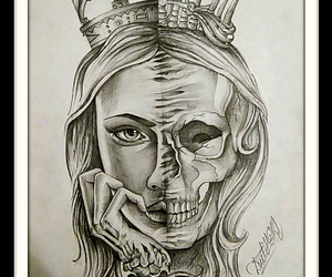 art, crown, and dead image