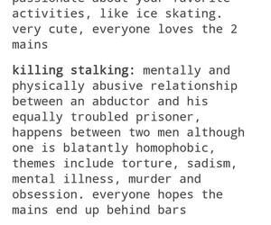 anime, fangirl, and killing stalking image
