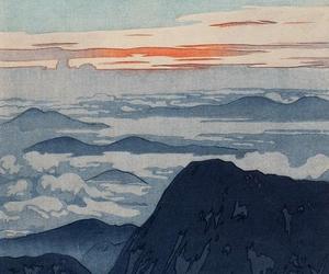 art, landscape, and japanese art image