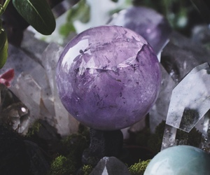 amethyst, purple, and crystals image