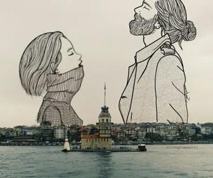 istanbul and kız kulesi image