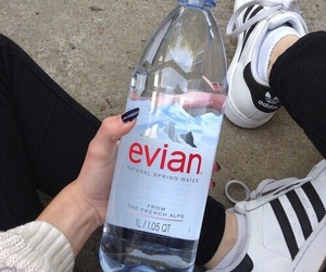 adidas, evian, and grunge image