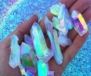 crystal, rainbow, and blue image