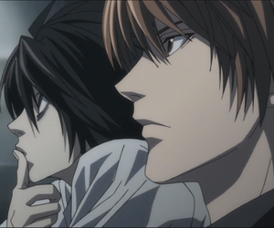 light, death note, and L image