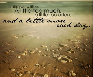 quote, beach, and miss image