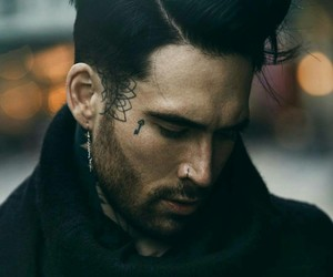 face tattoos, gorgeous man, and nose piercing image