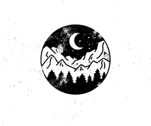 moon, mountains, and tumblr image