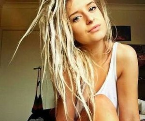 blonde, pretty, and dreads image