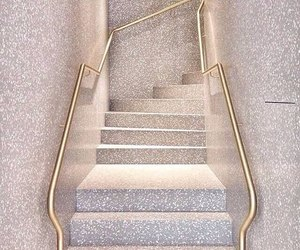 stairs, gold, and glitter image