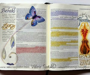 art, god, and bible journaling image