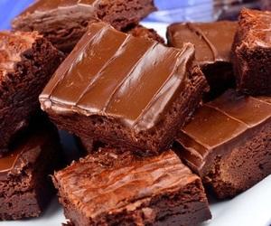 chocolate, food, and brownies image
