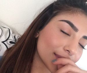 girl, eyebrows, and goals image