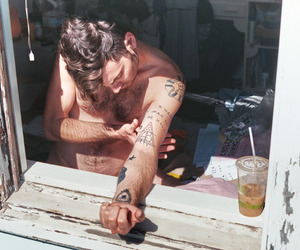 people, Tattoos, and photography image