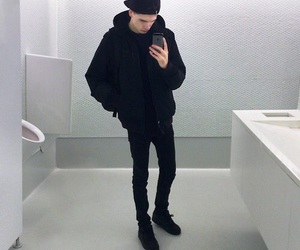 boy, black, and pale image