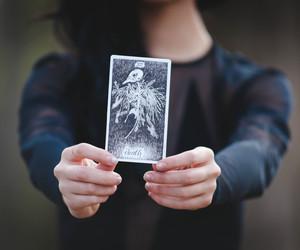 card, girl, and tarot amazing image