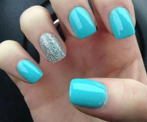 blue, nailart, and nails image