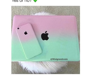 apple, iphone, and mint image