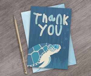 etsy, under the sea, and thank you cards image