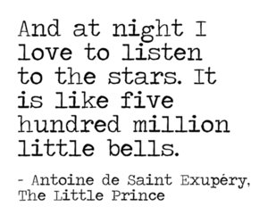 stars, quotes, and the little prince image