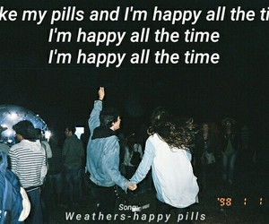 drugs, grunge, and happy pills image