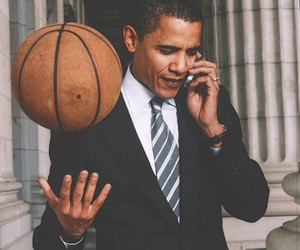 barack obama, Basketball, and obama president image