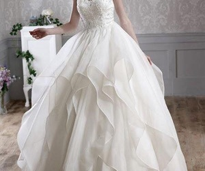 beautiful, bride, and wedding image