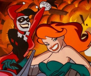 comics, harley quinn, and poison ivy image