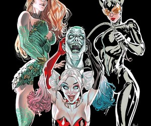 catwoman, harley quinn, and poison ivy image