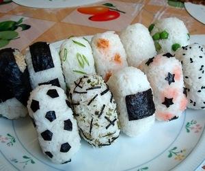 food, onigiri, and japanese image