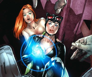 catwoman, poison ivy, and dc comics image