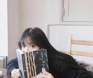 book, girl, and korean image