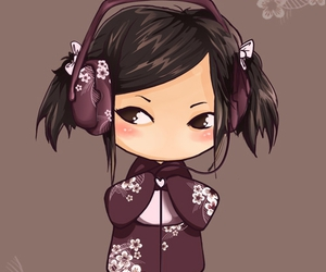 girl, music, and asian image
