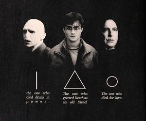 potter, snape, and voldemort image