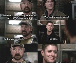 supernatural, bobby, and dean winchester image