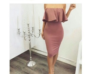 pink, classy, and dress image