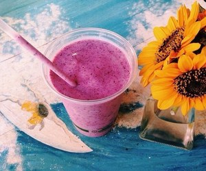 summer, tumblr, and drink image