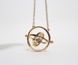 gold, time turner, and necklace image