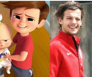 lou, louis tomlinson, and directioner image