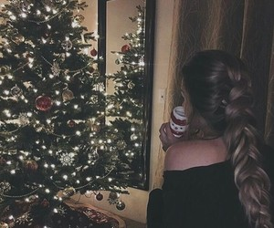 girl, christmas, and braid image
