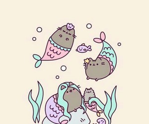 wallpaper, cute, and mermaid image