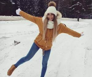 girl, fashion, and winter image