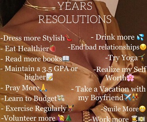 beauty, resolutions, and new years image
