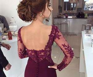 dress, hair, and beauty image